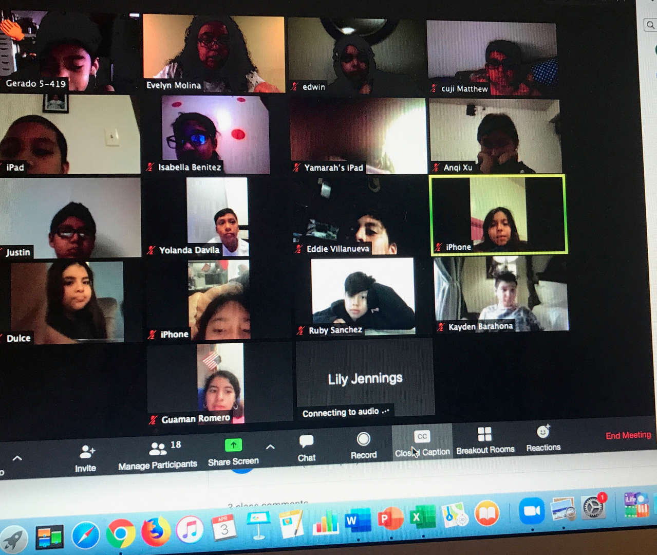 remote students meet grid photo