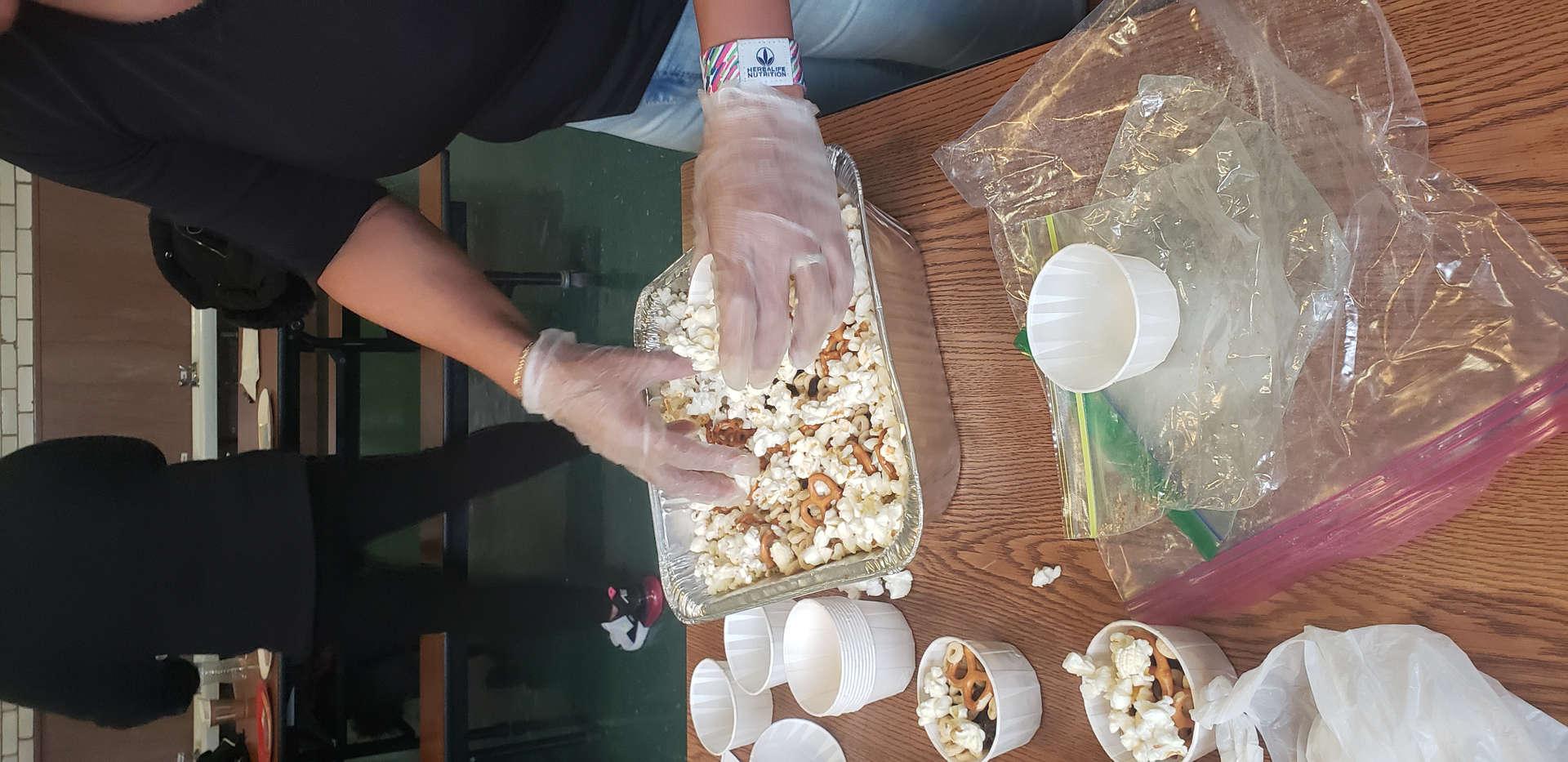 Parent preparing nutritious food
