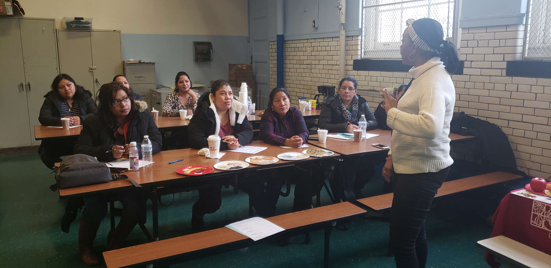 Parents learning about nutrition at PS 14