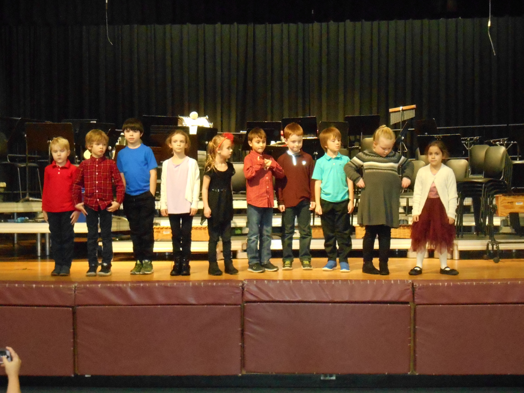 Grade 3 students sing and dance in primary concert