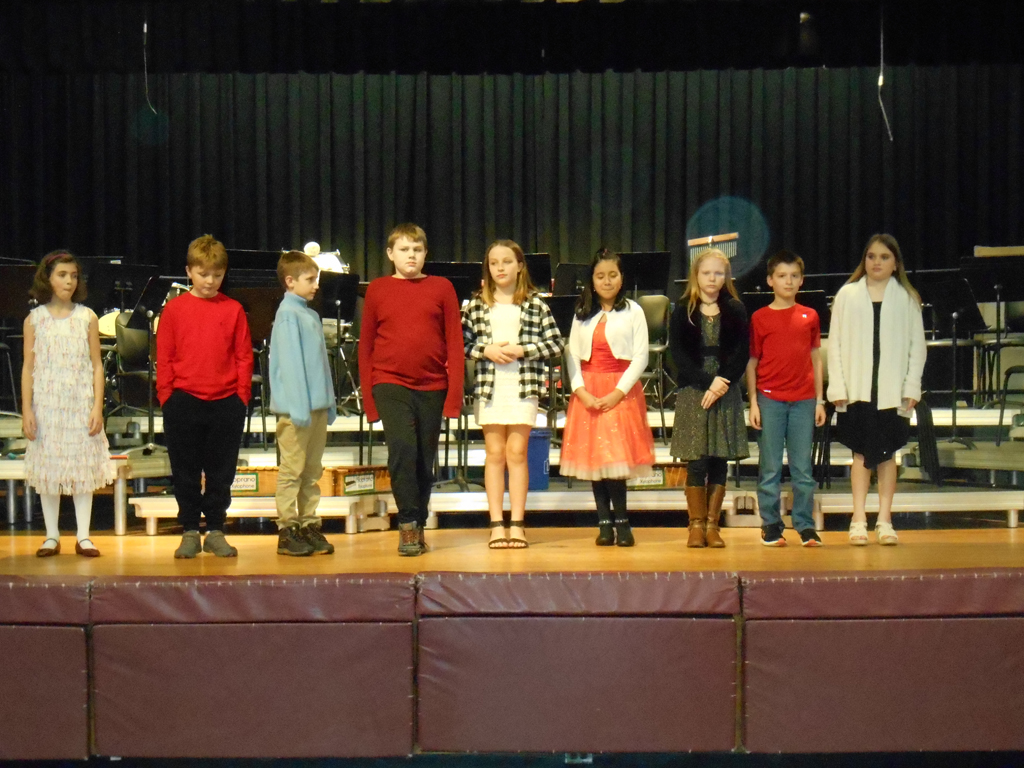 Grade 4 students in primary concert