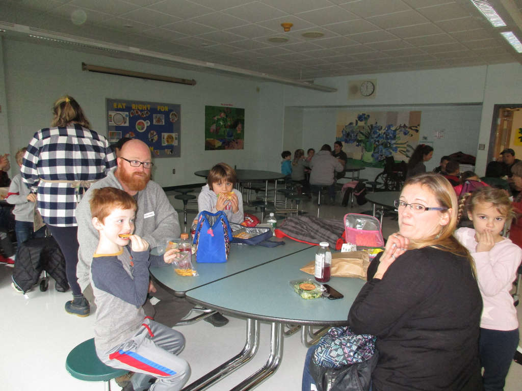Another picture of the parent and student lunch celebration