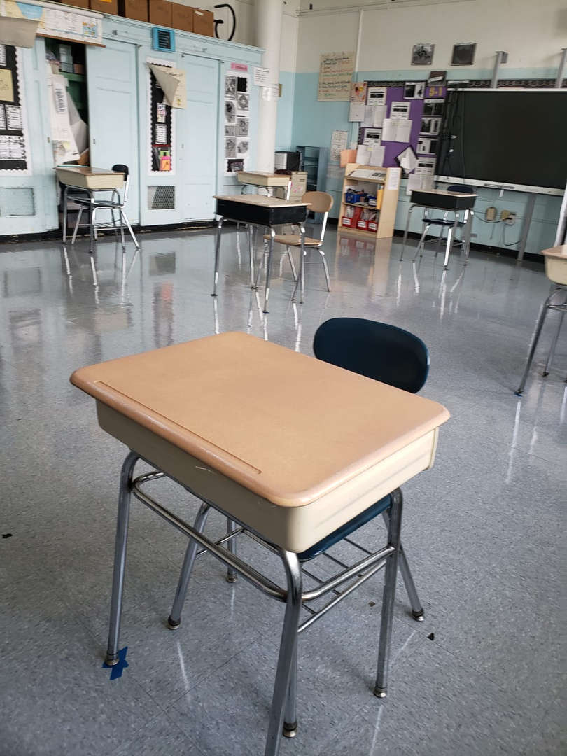 pupil desk with chair