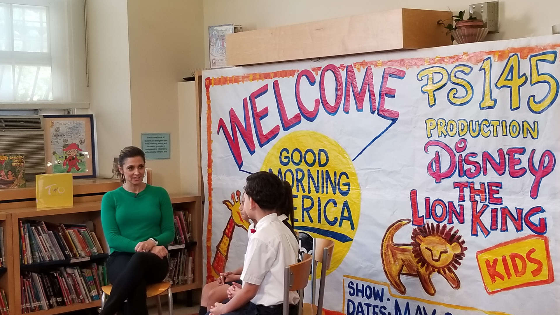 Students being interviewed by Good Morning America