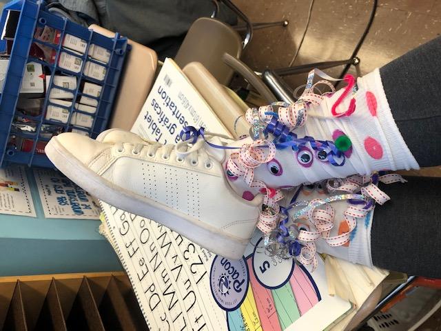 Mrs. Mascia's silly socks