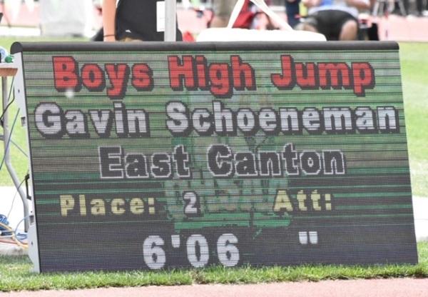 Boys High Jump 6'6
