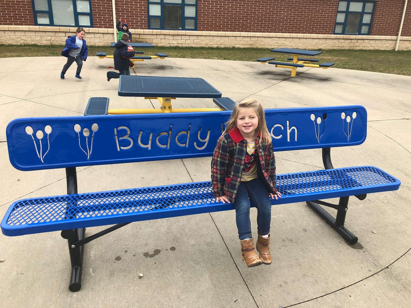 Elementary Student on Bench