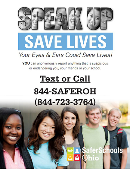 Speak Up Save Lives, Safe Schools Ohio