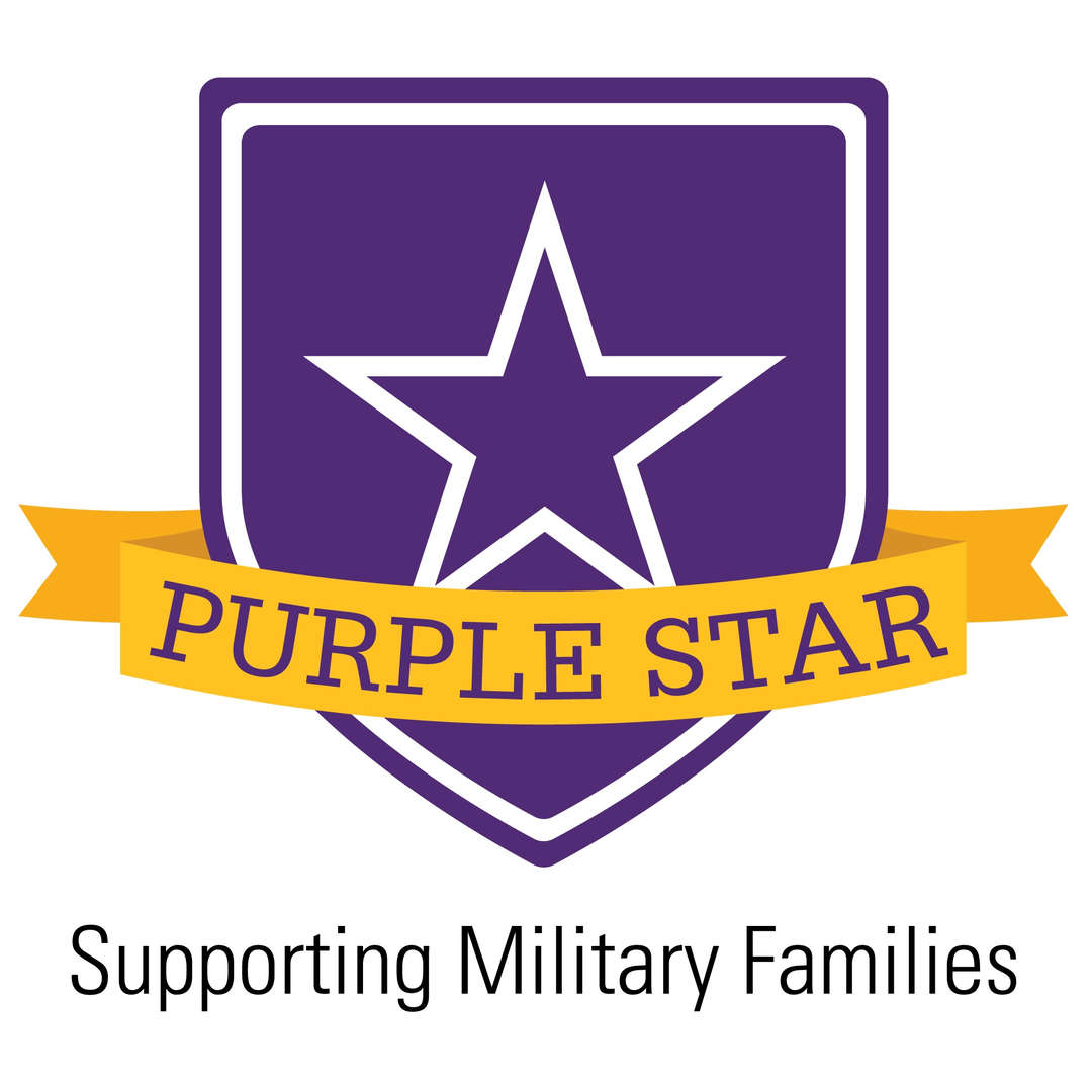 purple star- supporting military families
