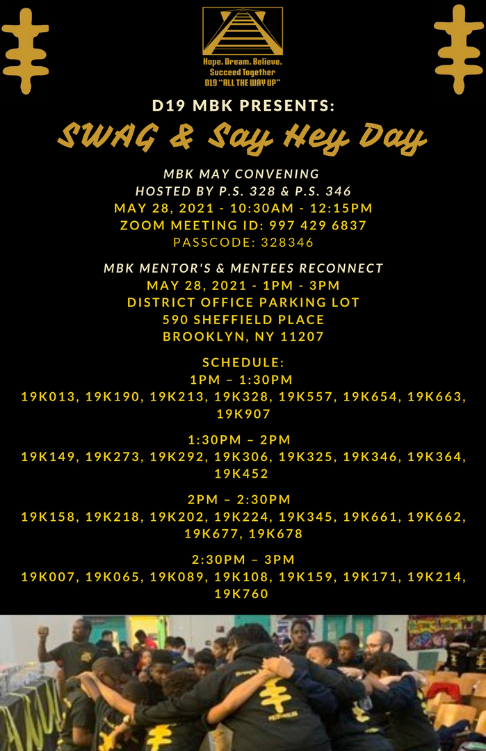 Flyer for MBK Swag & Say Hey Day