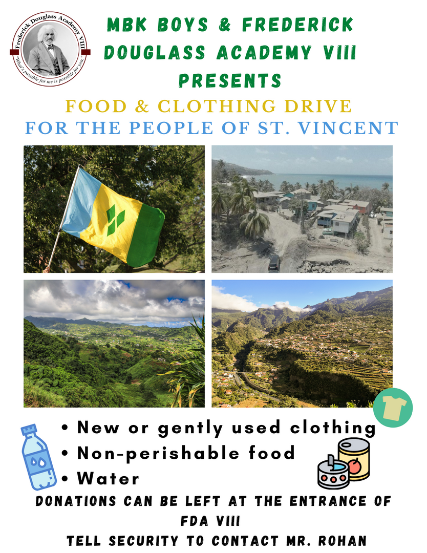 MBK Food & Clothing Drive for St. Vincent