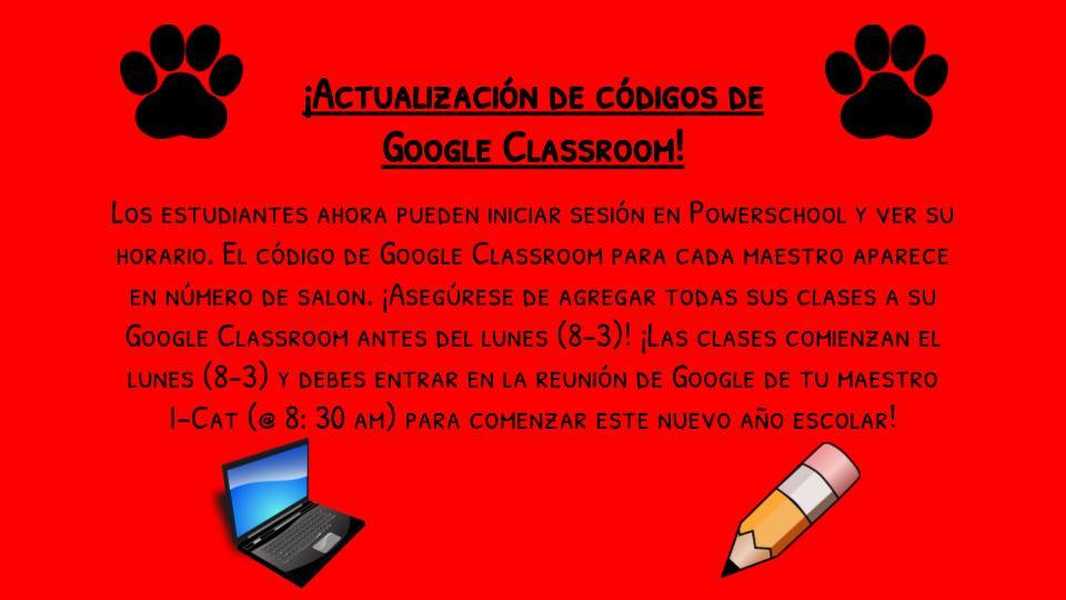 Google Classroom Spanish