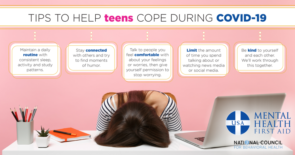 Tips to help teens cope during COVID-19