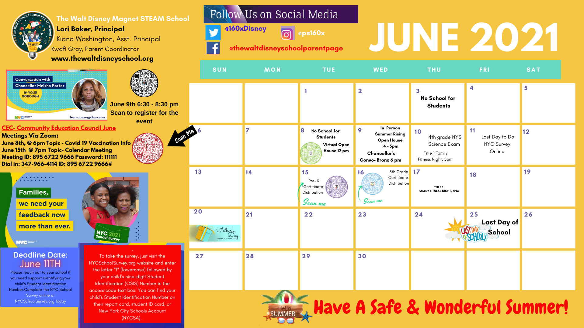 June School Calendar