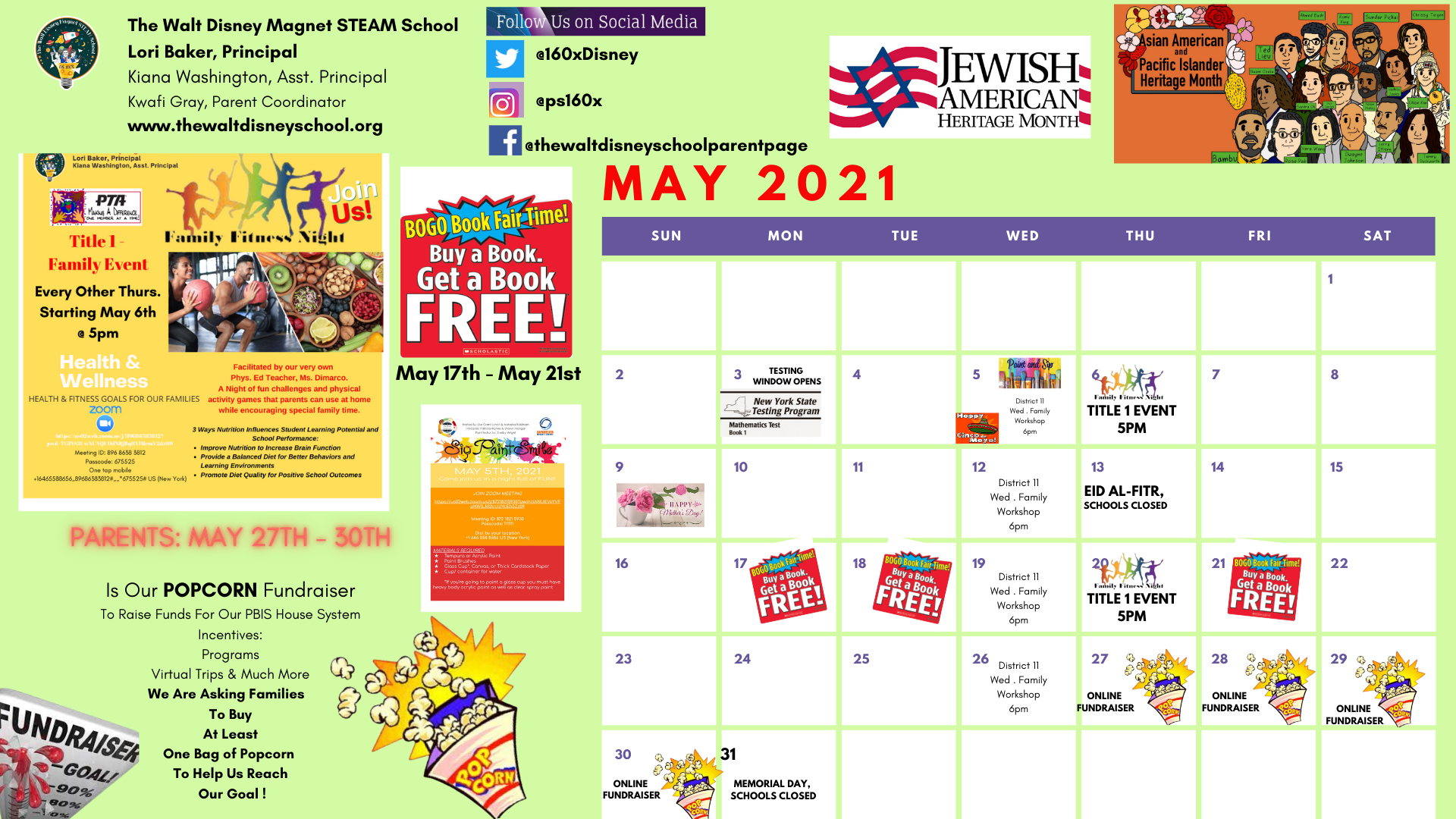 May School Calendar- School Events