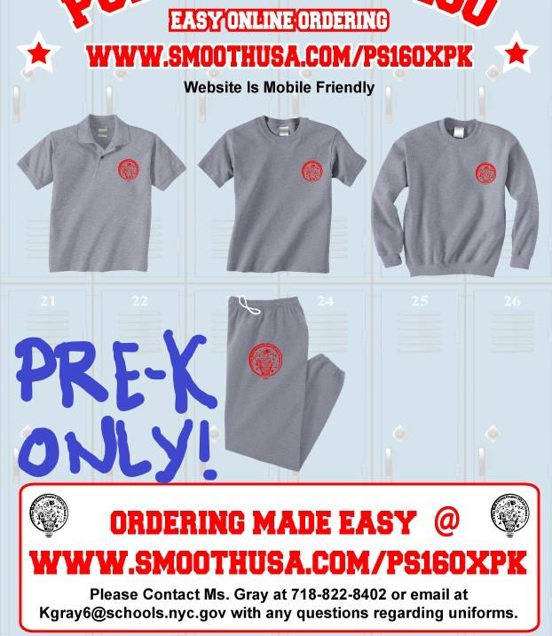 Pre-k school uniform flyer