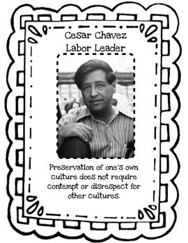 "Cesar Chavez quote""Preservation of one's own culture does not require contempt or disrespect for anothers."""