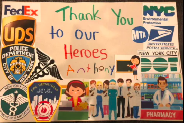 3rd Grade Thanks their heroes