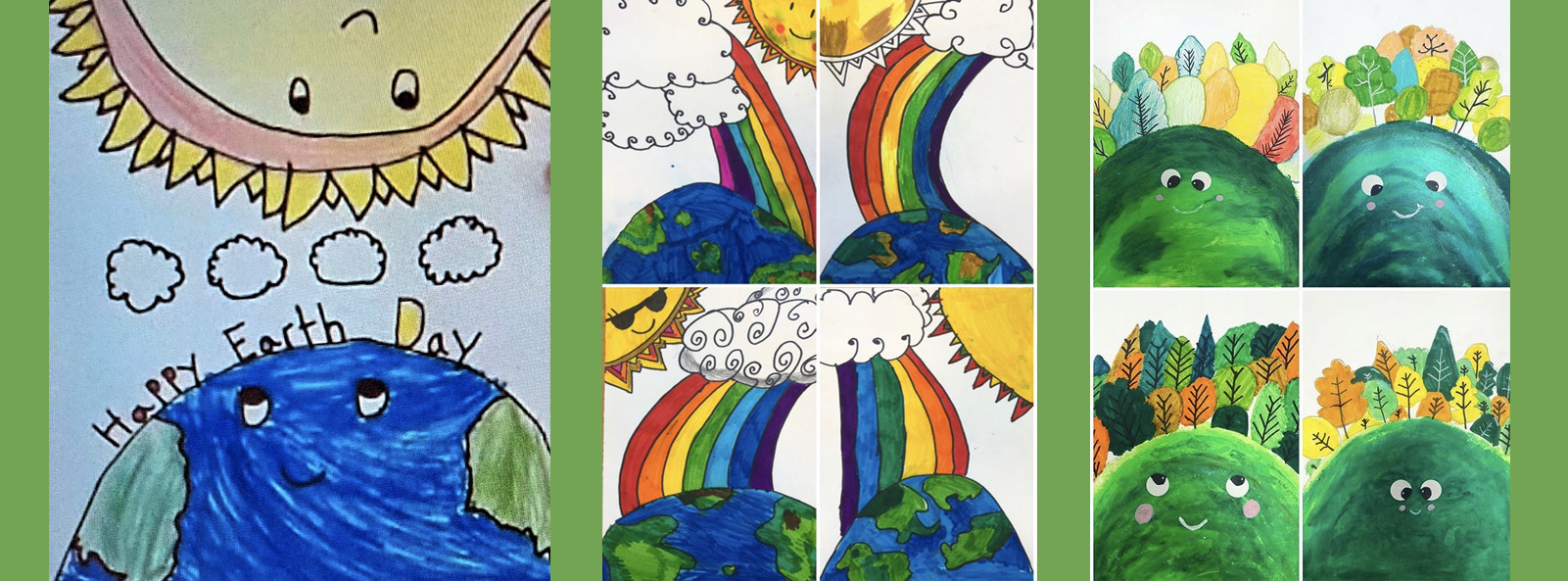 Student artwork for Earth Day