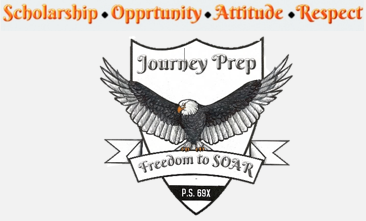 This is a picture of the P.S. 69 Journey Prep logo.