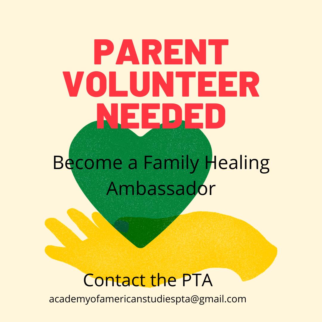Flyer advertising a Family Healing Ambassador
