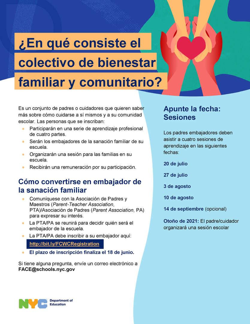 Family and Community Wellness Collective - (Healing Ambassador Program) Spanish