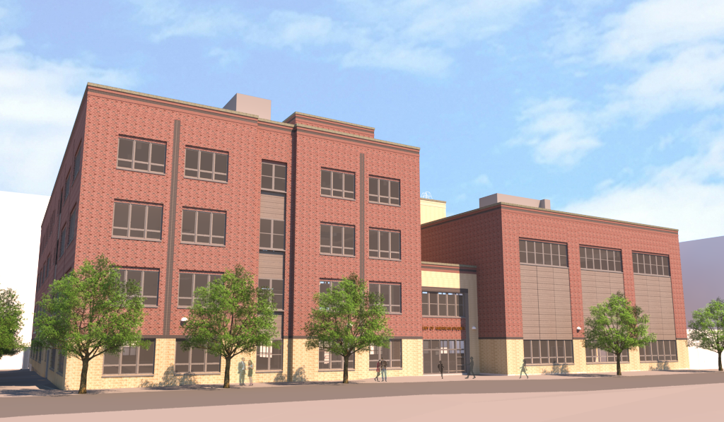 A picture of the new building, which will be constructed, for the Academy of American Studies