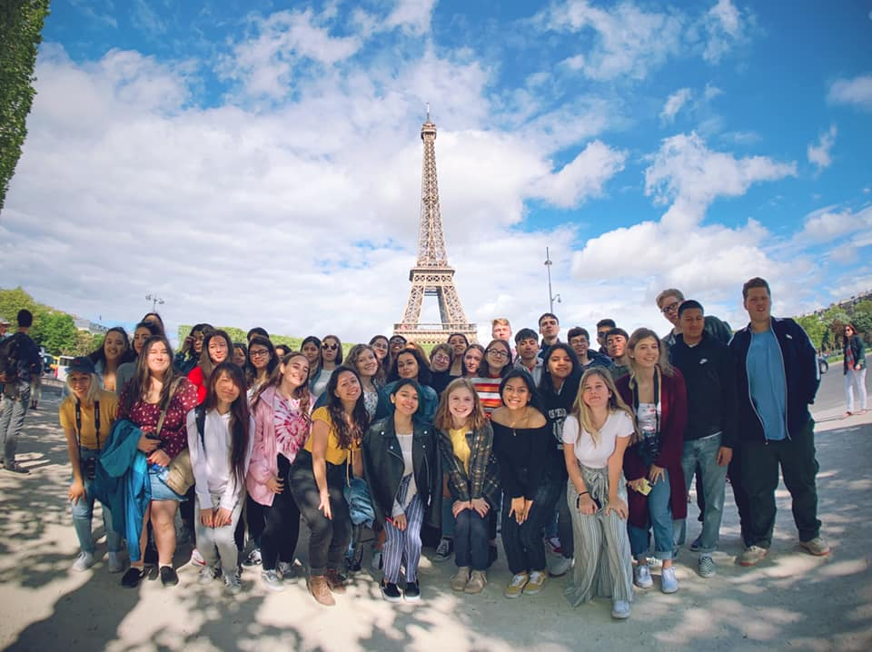 Group photo taken during Academy's international trip to Europe in 2019