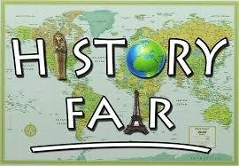 History Fair overlaying a world map