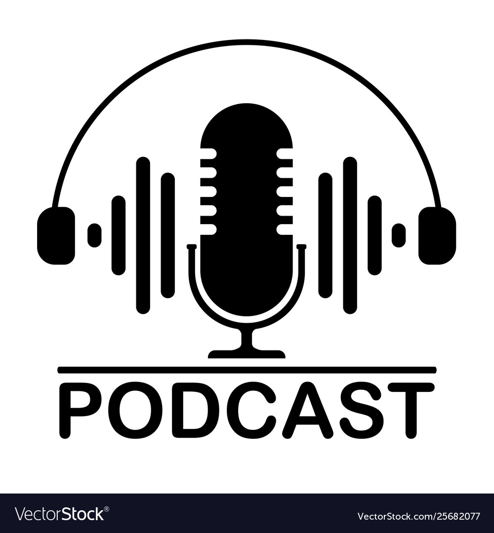 illustration of a microphone  Podcast