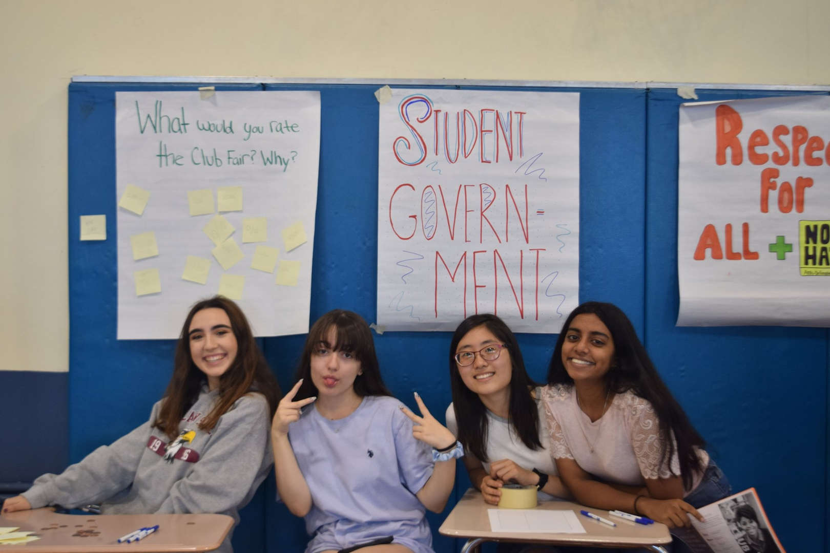Academy holds its annual Club Fair in the 4th floor gym