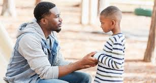 A father and son had a quiet conversation in the living room