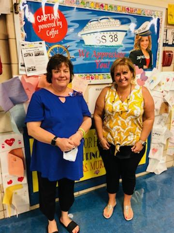 mrs. Chow and Mrs. Grolinno- Staff at the school