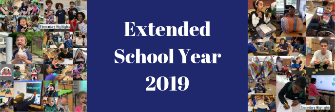 Extended School Year 2019 Publication Centerfold of Elementary Highlights and Secondary Highlights