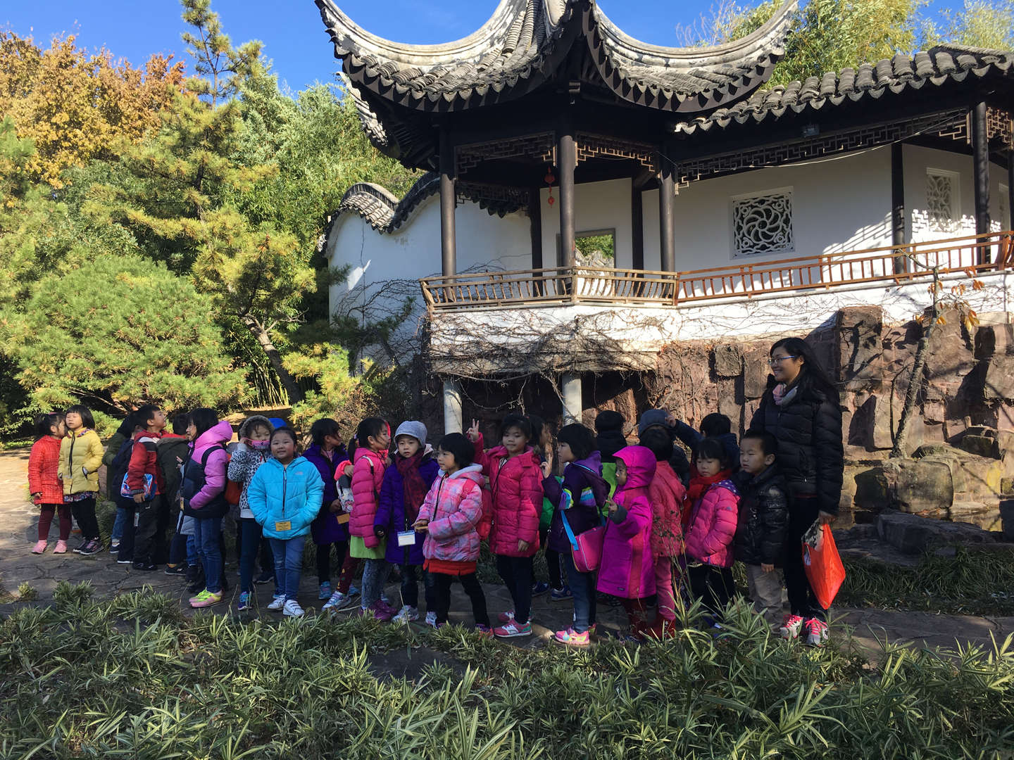 Dual Language Class Trip to the Chinese Garden
