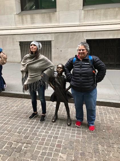Students visiting Wall Street