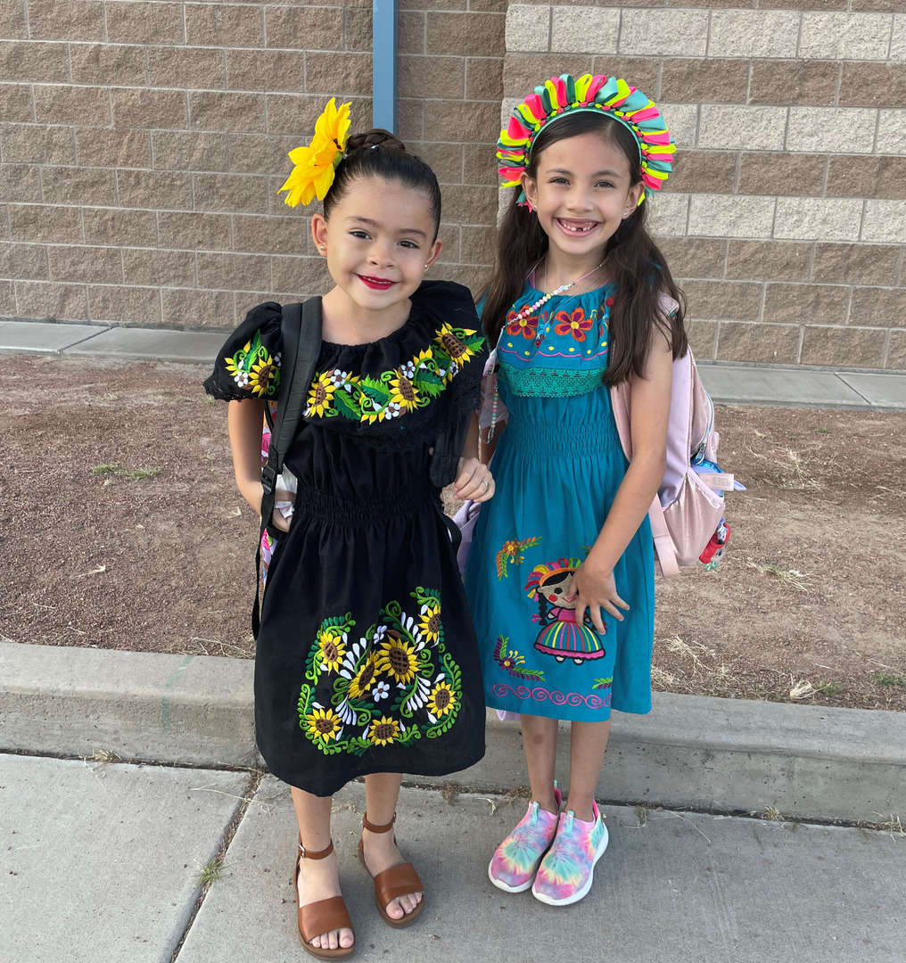 two students posing