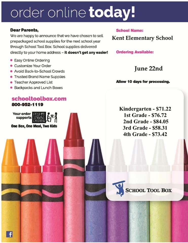 Order your School Supplies!