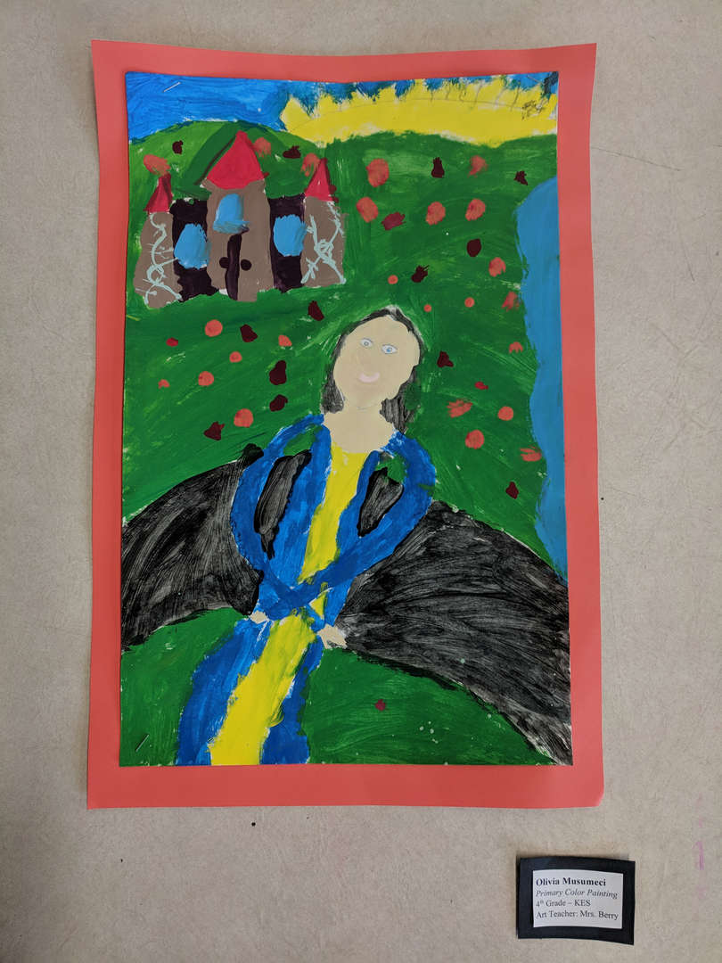 student artwork-person in a field
