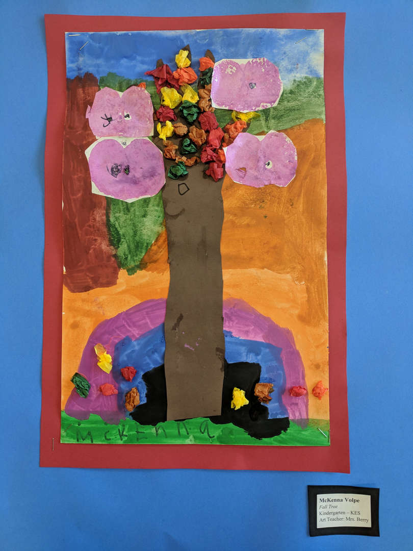 student artwork-tree collage