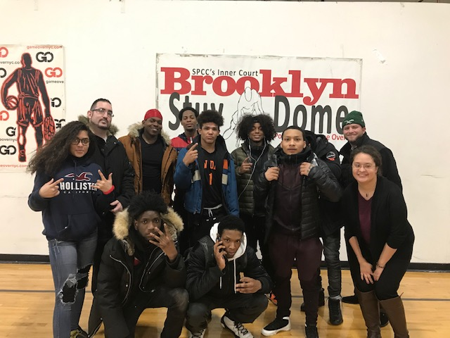 Students at Brooklyn Stuy Dome