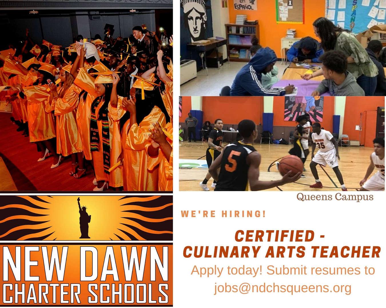 Certified - Culinary Arts Teacher II