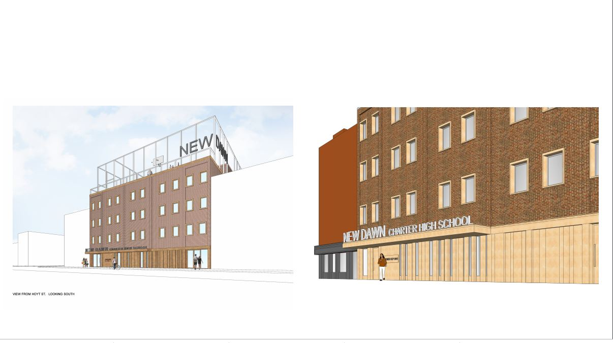 Exterior Renderings of Renovated Project