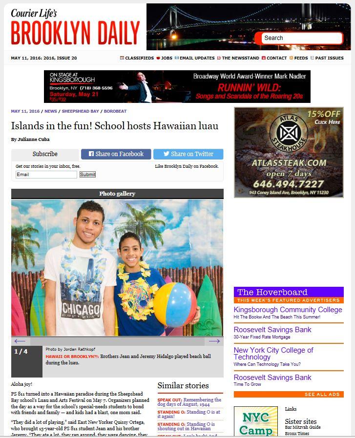 Brooklyn Daily website snap shot