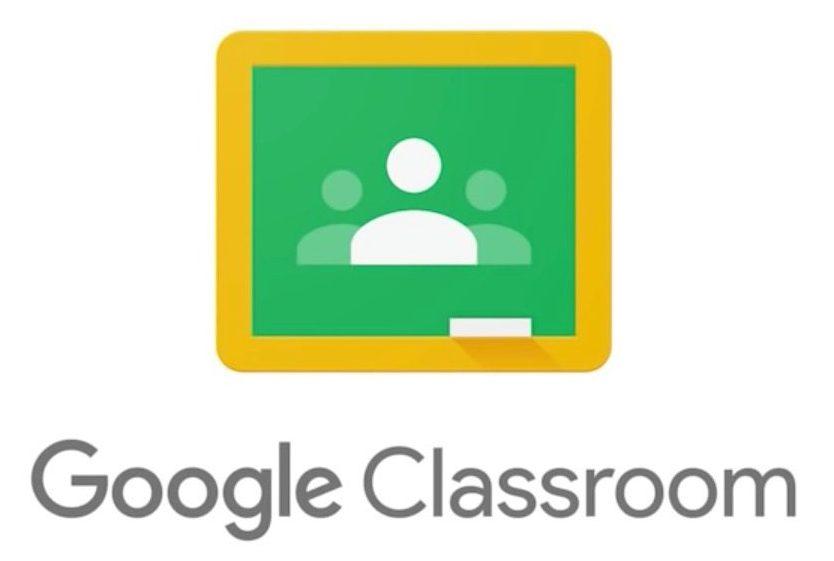 Google classroom logo with link