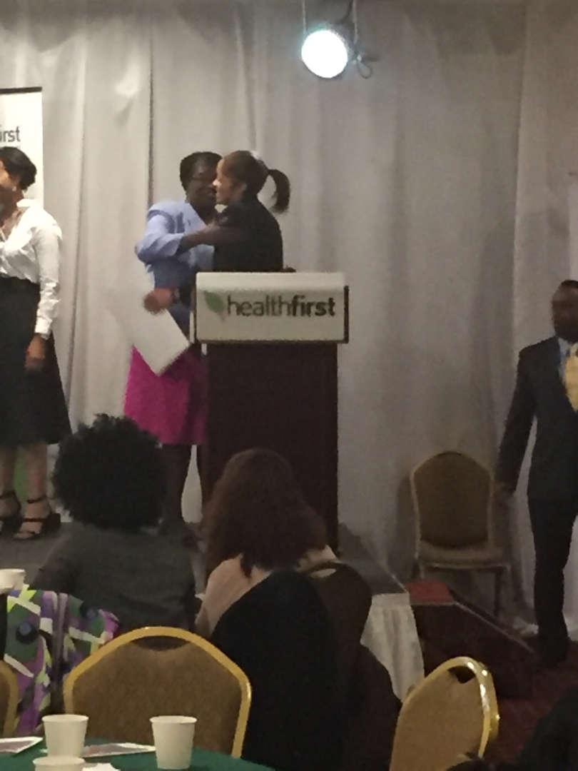 Principal Rose receiving a citation award, picture 2