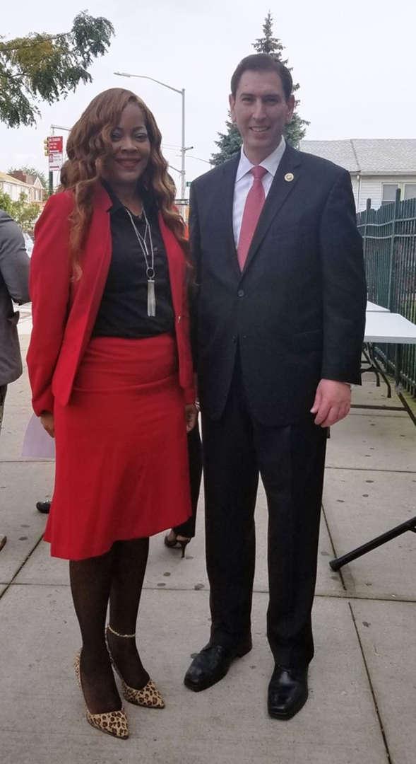 Council Member Chaim Deutsch with Antoinette Rose