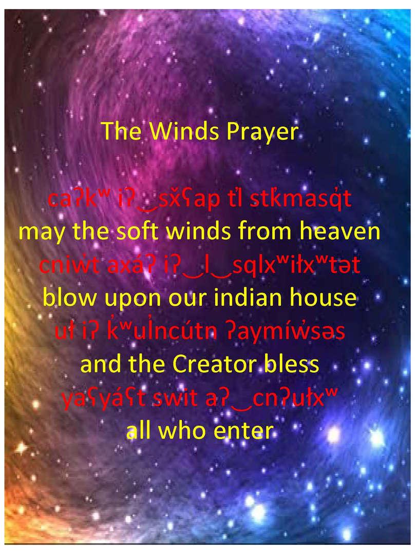 salish prayer