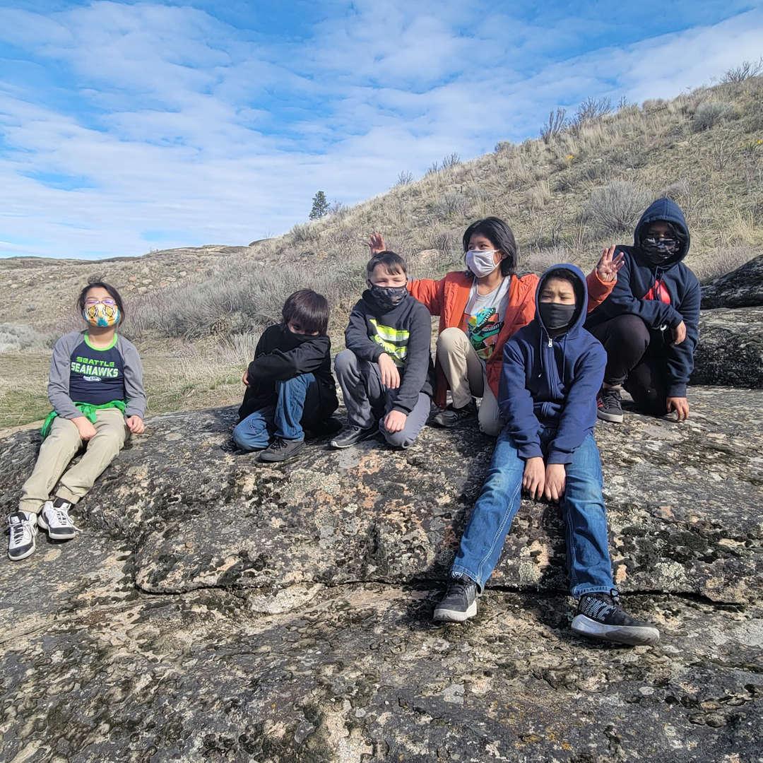 4th grade students at the falls