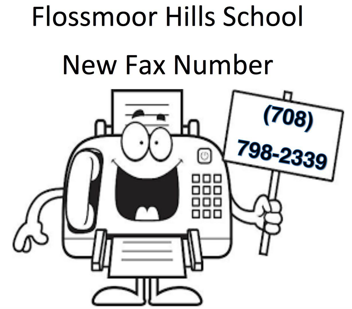 New fax number 708-798-2339